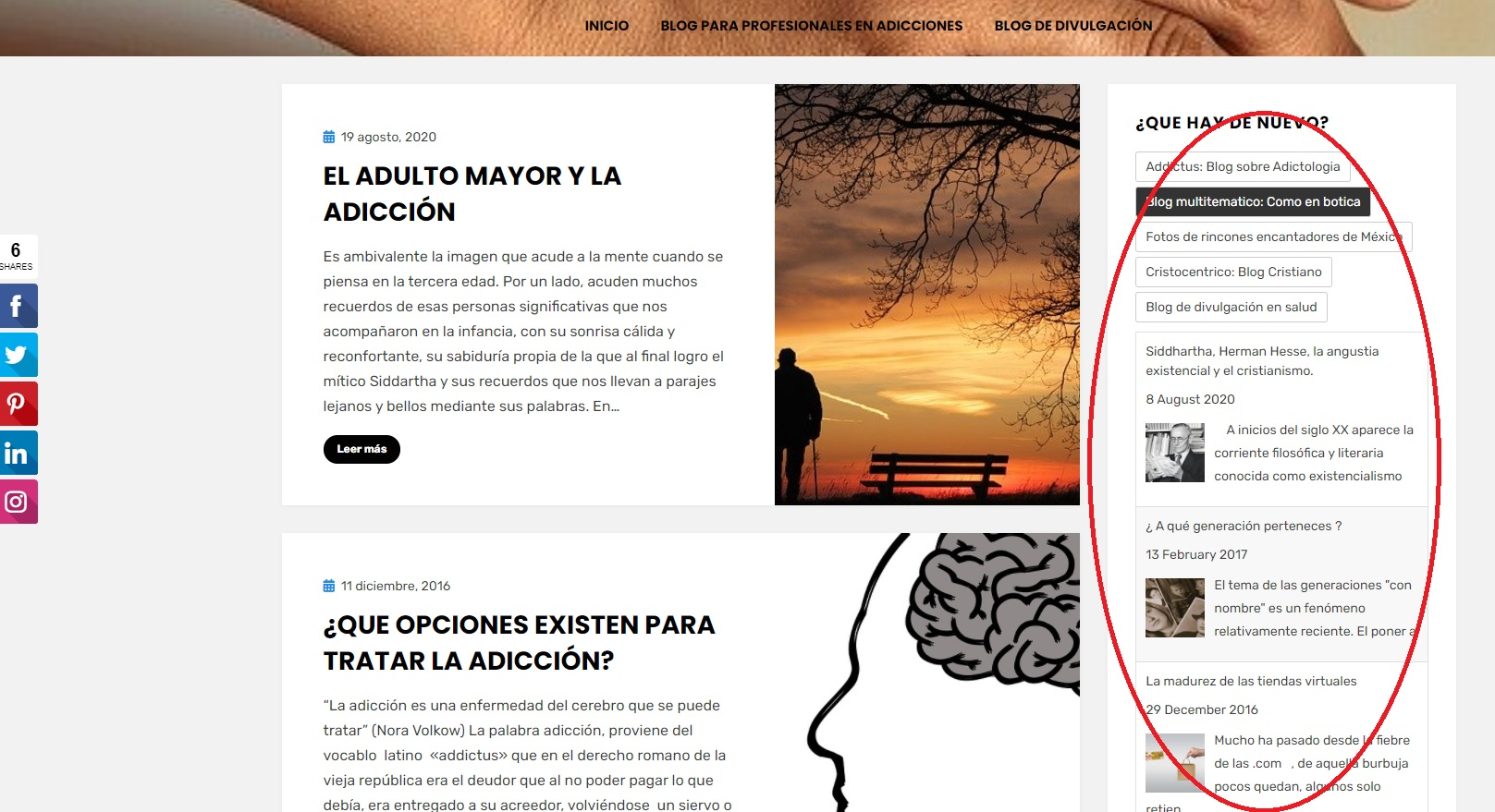 BlogRoll en la SideBar de un Blog en WordPress